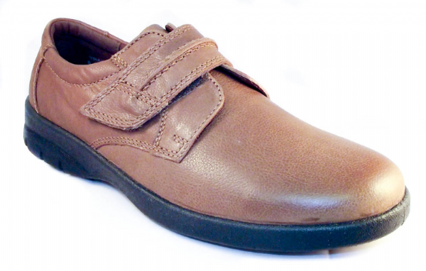 Gary lightweight spring/summer velcro shoe in camel tan.